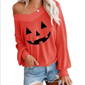 Pumpkin Waffle Knit Sweater 🎃